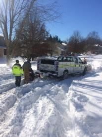 Neighbors helping out the fire department on some of the tougher snow responses. The help is very much appreciated!