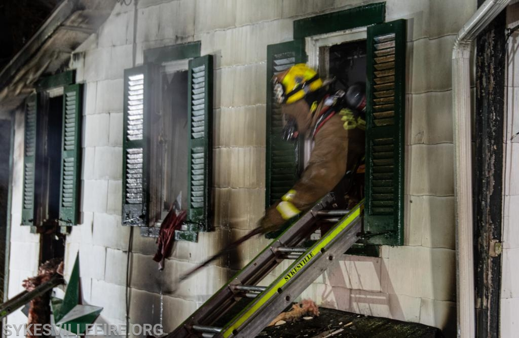 Crews making entry to the second floor  Photo by PIO Gary McGinnis